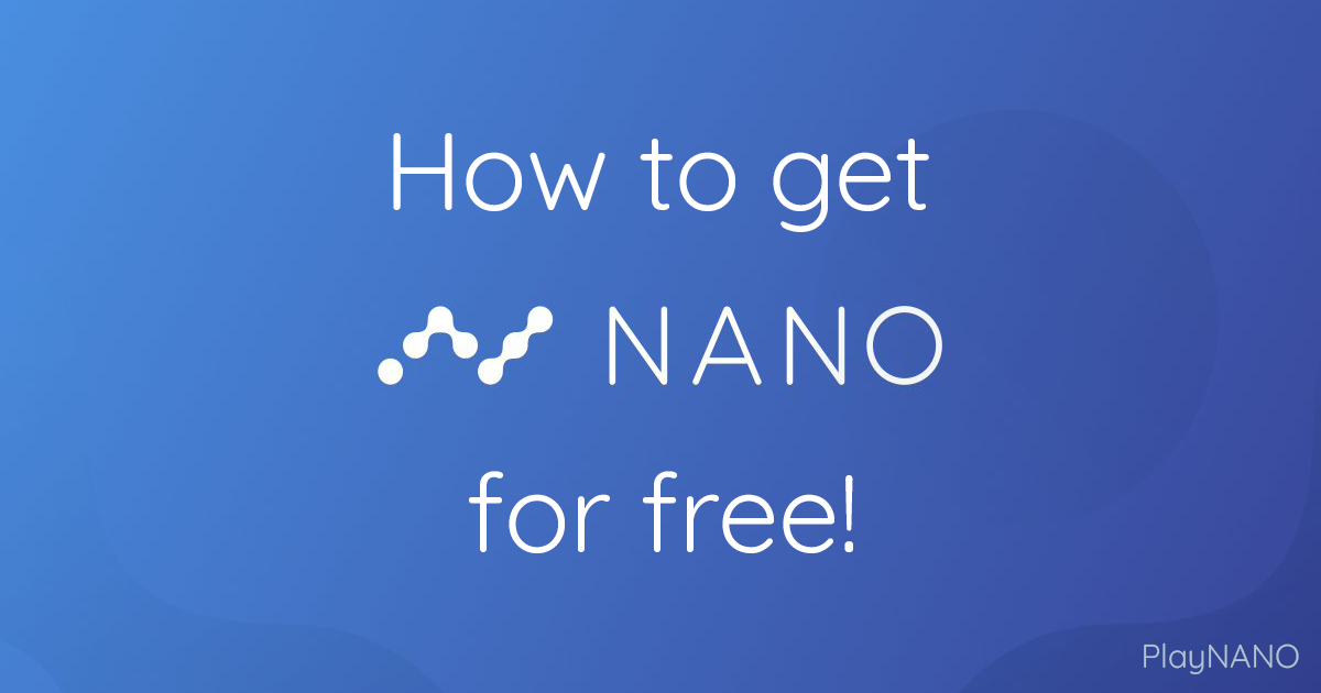 How to earn nano for free